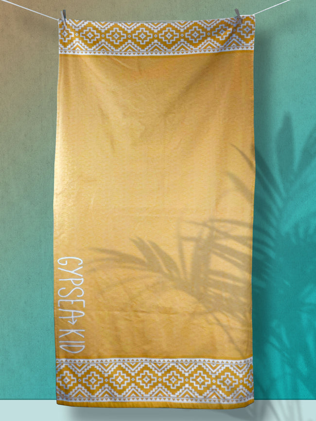 Gypsea Kid Sun Yellow XL Beach Towel