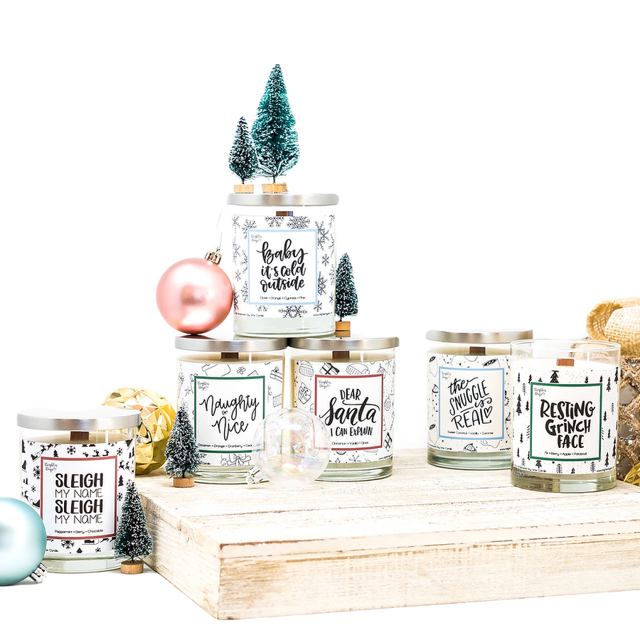 Christmas Lovers Holiday Soy Candle BUNDLE of 6