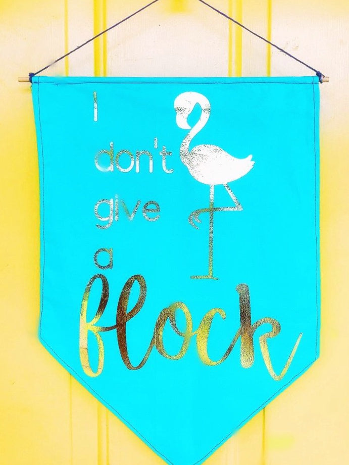 No Flocks Gold Foil Mini Wall Banner