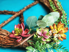Succulent Peace Wreath
