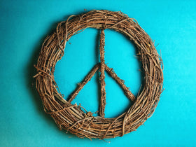 Boho Peace Wreath - Multiple Sizes Available