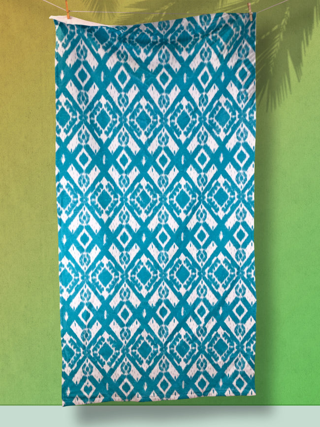 Ikat - Sea Blue XL Beach Towel