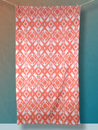Ikat - Orange Creamsicle XL Beach Towel