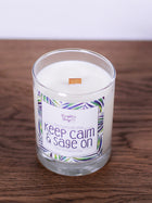 Keep Calm & Sage On<br>Hand Poured Vegan Soy Candle