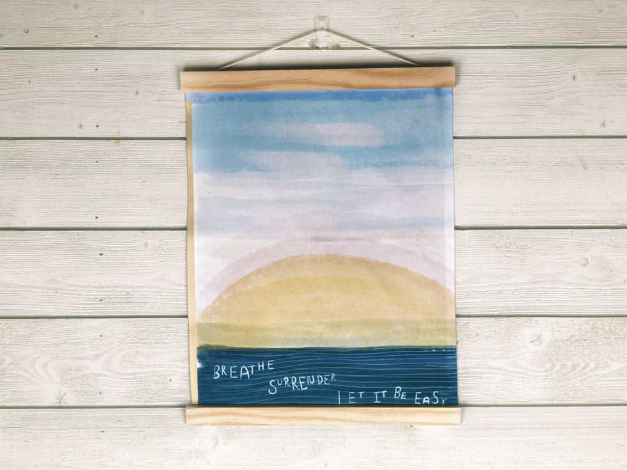 Let It Be Easy - Modern Frame Fabric Wall Hanging