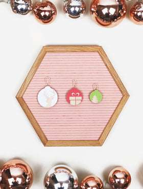 Set of 3 Holiday Letter Board Icons