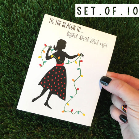Light That Shit Up Holiday Card 10 Pack
