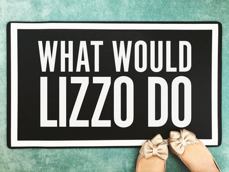 What Would Lizzo Do - Funny Doormat Inspiring Welcome Door Mat - Bath Mat
