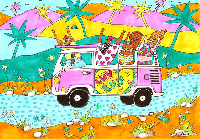 Luv Bus Art Print by Maggie Stephenson Art