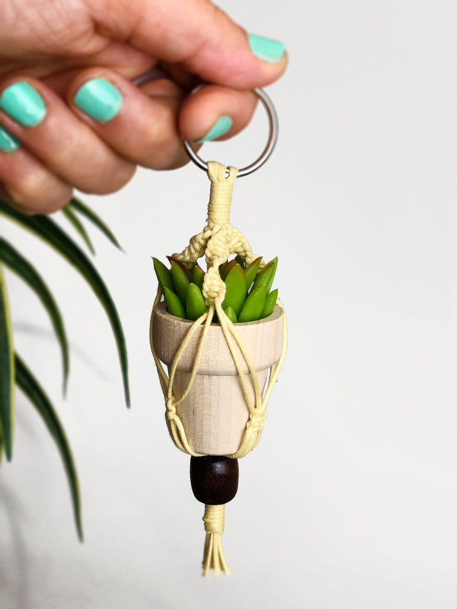 Essential Oil Diffuser Mini Plant Charm - Natural Colorway