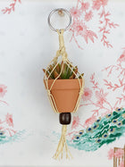Mini Macrame Plant Ornament - Natural Colorway