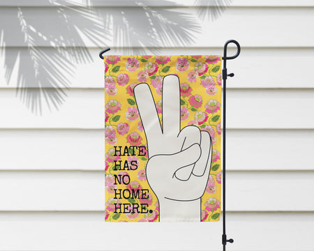 No Hate Only Peace Garden Flag + Wall Hanging - Multiple Options Available!
