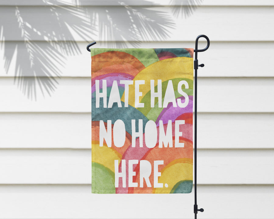 No Hate Only Rainbows | Outdoor Flag + Wall Hanging - 2 Sizes!