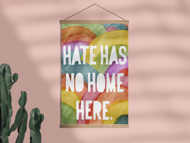 No Hate Rainbows - Framed Wall Hanging