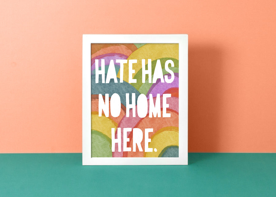 No Hate Rainbows - Art Print