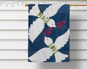 Peace Love Doves Flag + Wall Hanging - Multiple Options Available!