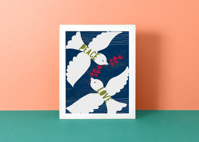 Peace Love Doves - Art Print