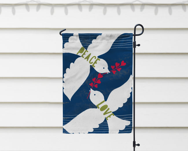 Peace Love Doves Garden Flag + Wall Hanging - Multiple Options Available!