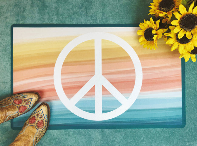 Peace + Wellbeing - Accent Mat - Multiple Sizes!