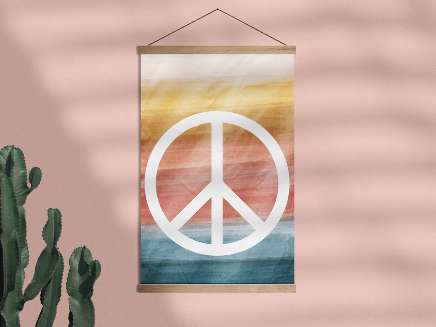 Peace and Wellbeing - Framed Wall Hanging