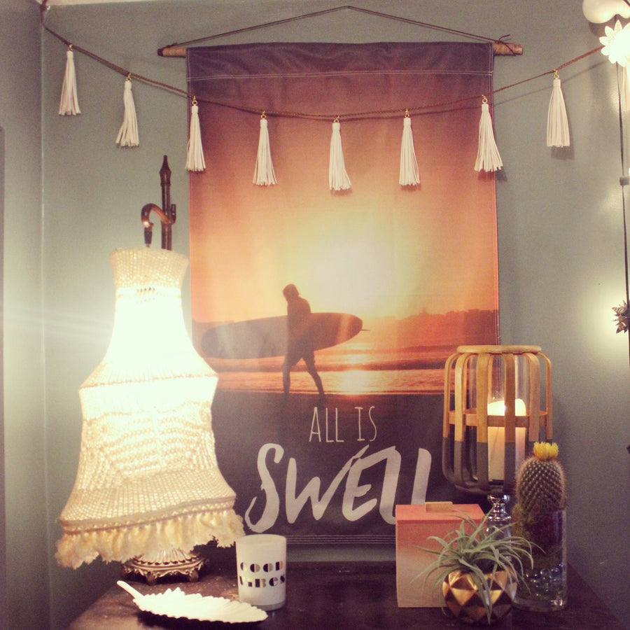 All is Swell Flag, Wall Hanging, Wall Decor - Surf, Beach
