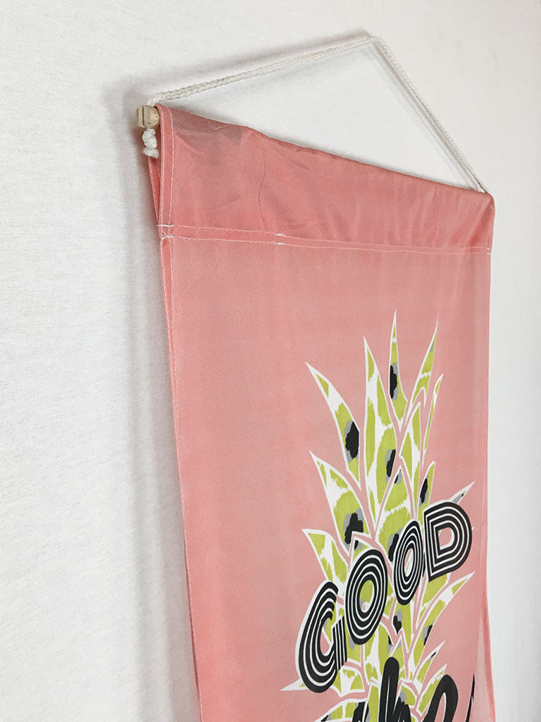 Good Vibes Pineapple | Outdoor House Flag