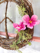 Pink Cosmos<br>Peace Wreath