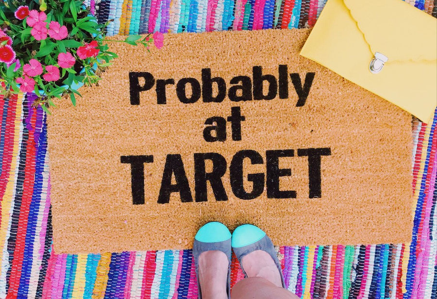 Probably at Target Funny Doormat