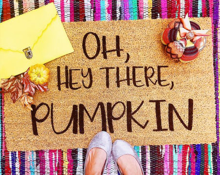 Hey There Pumpkin Funny Doormat Fall Porch Decor