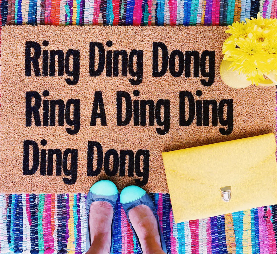 Ring Ding Dong Funny Doormat