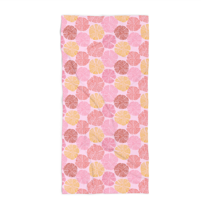 Sand Dollar Coral XL Beach Towel