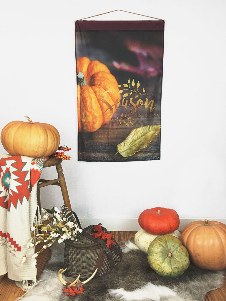 Season of Thanks | Outdoor House Flag