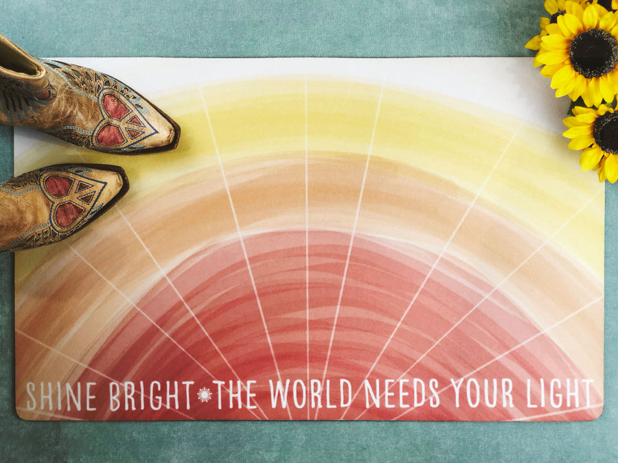Shine Bright Inspirational Accent Doormat, Door Mat, Bath Mat