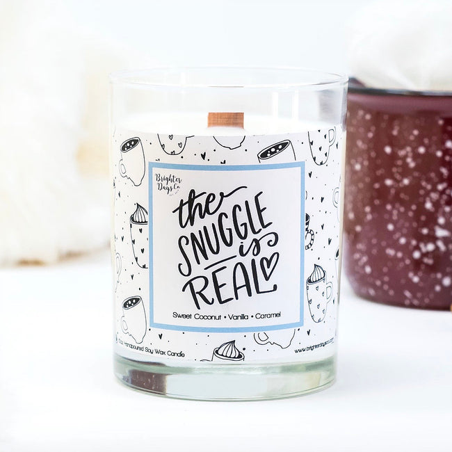 The Snuggle is Real Holiday Soy Candle