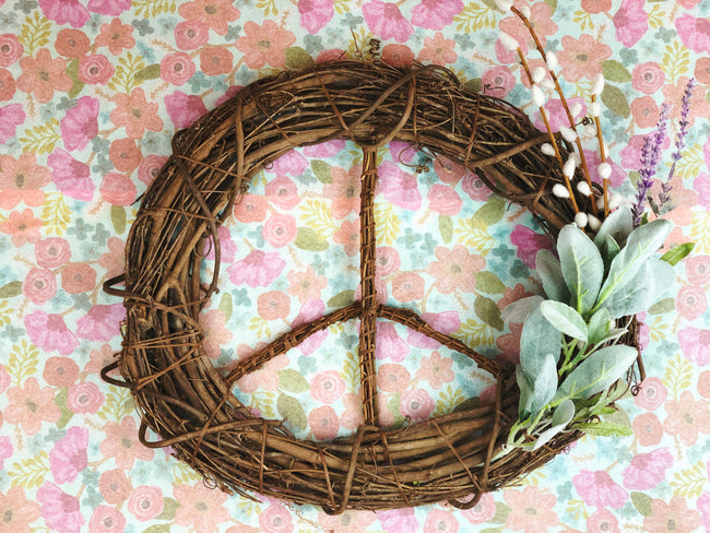 Spring Lavender Peace Wreath
