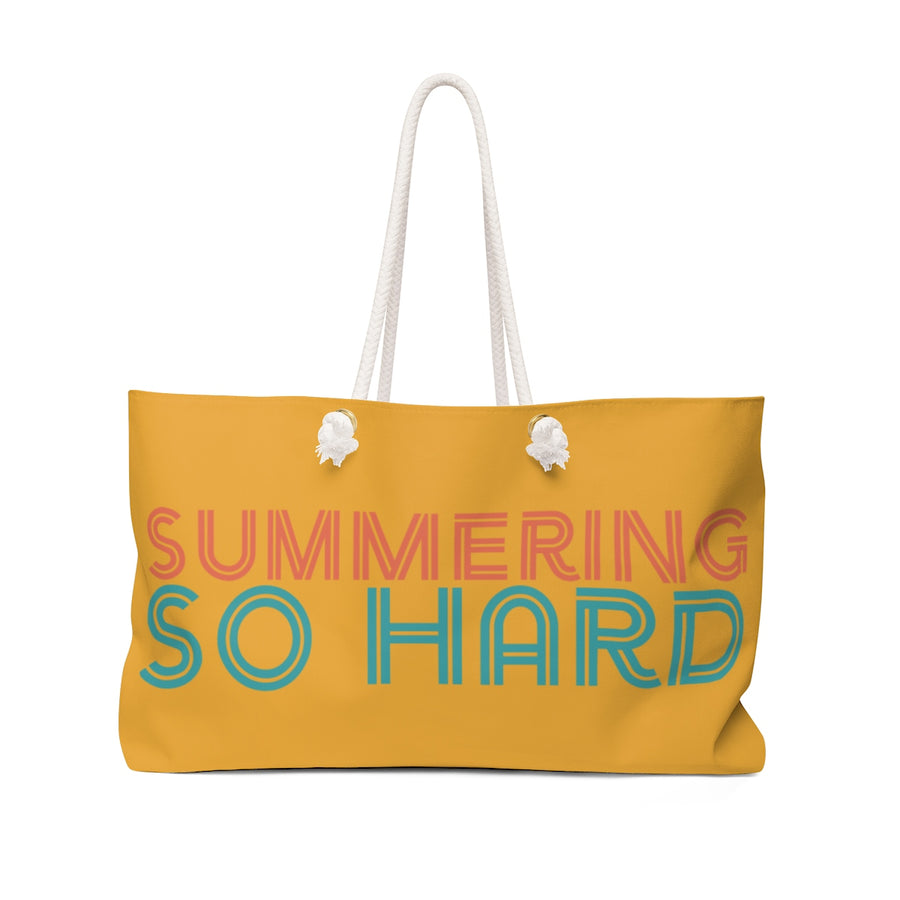 Summering So Hard Rope Handle Beach Bag + Weekend Tote