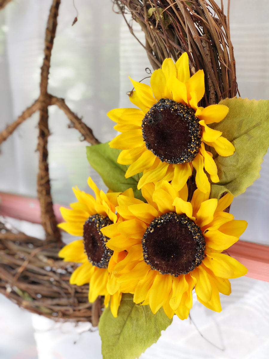 Sunflower<br>Peace Wreath