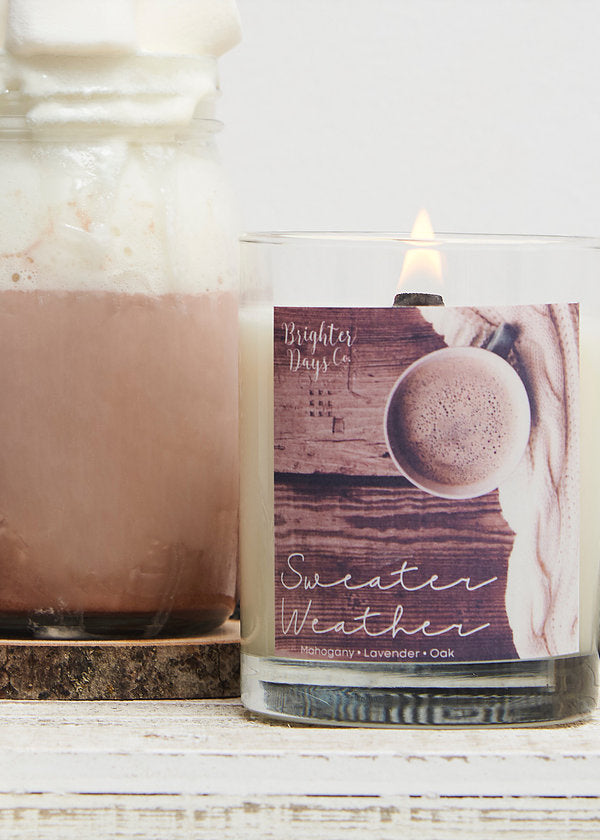 Sweater Weather Fall Candle Hand poured Soy Candle