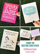 Thank You Greeting Cards - 6 Pack