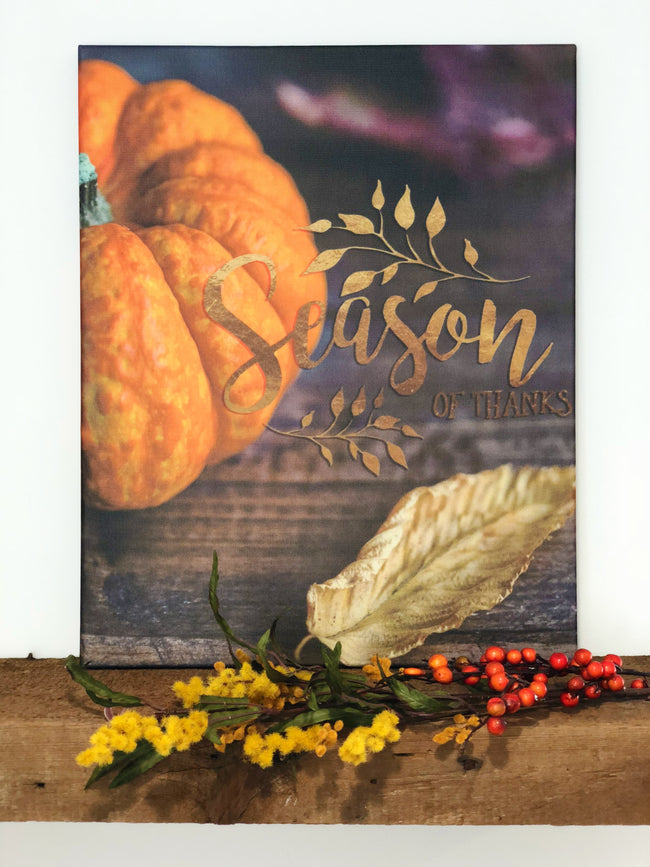 "Season Of Thanks 16""x20"" Stretched Art Canvas"