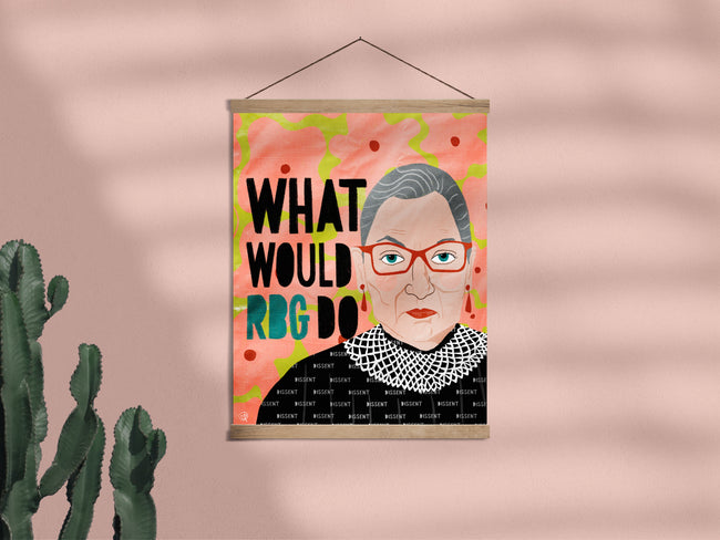 What Would RBG Do - Framed Wall Hanging