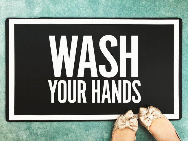 Wash Your Hands - Accent Mat - 2 Sizes!