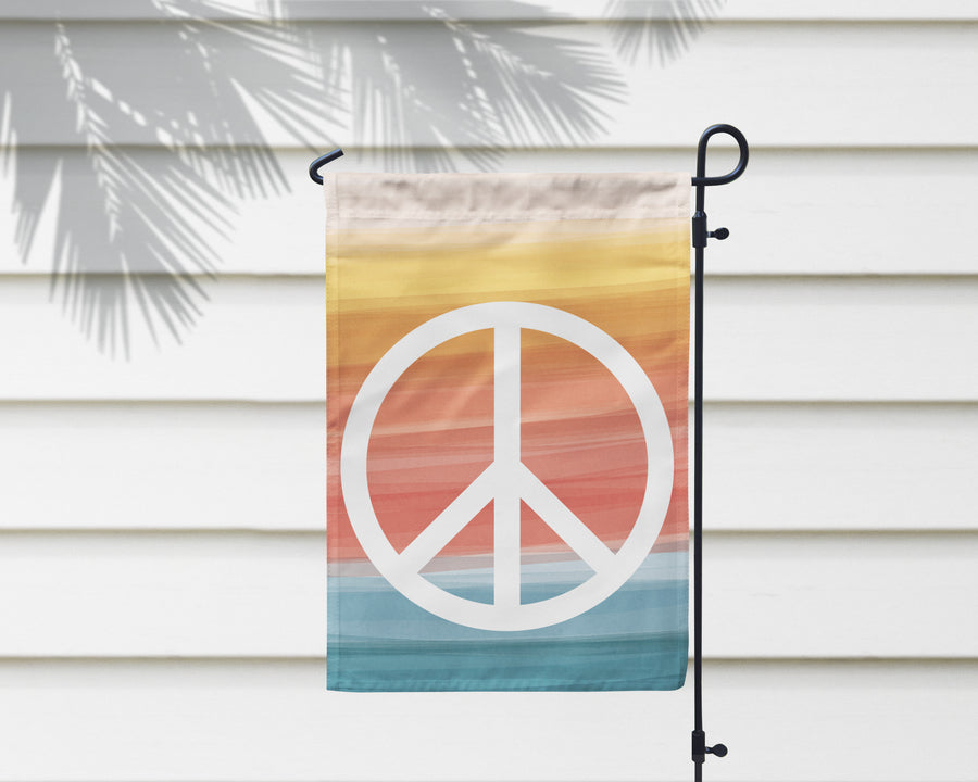 Peace + Wellbeing Garden Flag + Wall Hanging - Multiple Options Available!