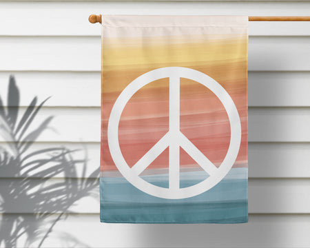 Peace + Wellbeing | Outdoor House Flag 2 Sizes!