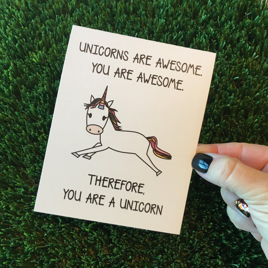 You Are a Unicorn Thank You Greeting Cards - 6 or 12 Pack