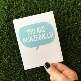 You Are Amazeballs Thank You Greeting Cards - 6 or 12 Pack