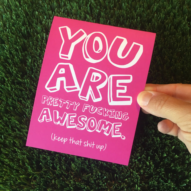 You Are F-ing Awesome Thank You Greeting Cards - 6 or 12 Pack