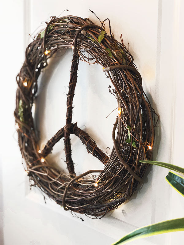 "XL 36"" Boho Peace Wreath"