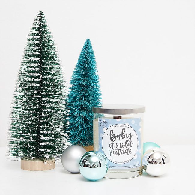 Baby, It's Cold Outside Holiday Inspired Soy Candle