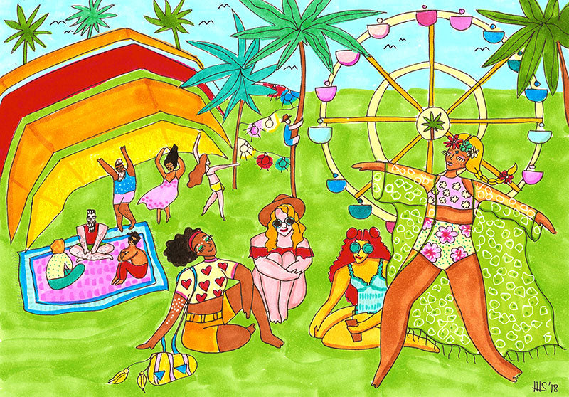 Coachella Art Print by Maggie Stephenson Art
